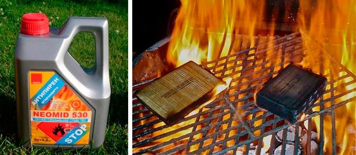 антипирены против возгорания древесины