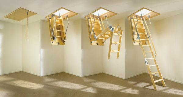 разборка складной лестницы