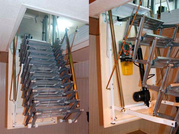складные электрические чердачные лестницы