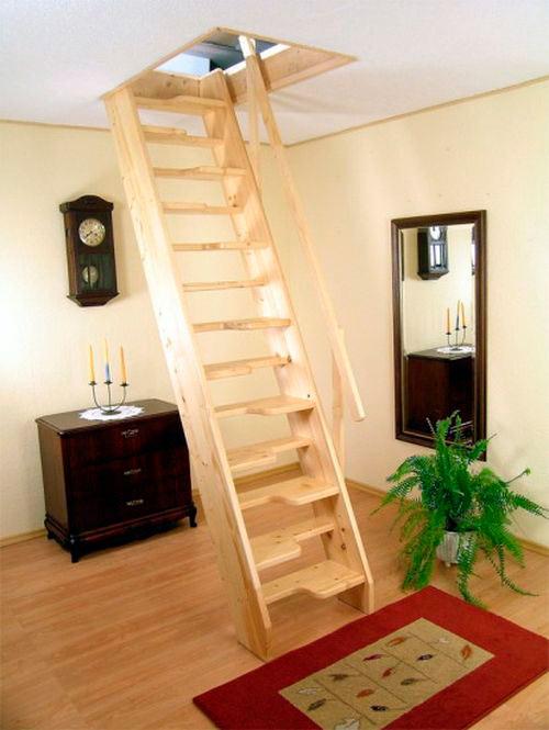 стационарная лестница для чердака