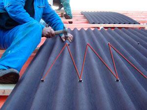 покрытие крыши ондулином-миниатюра