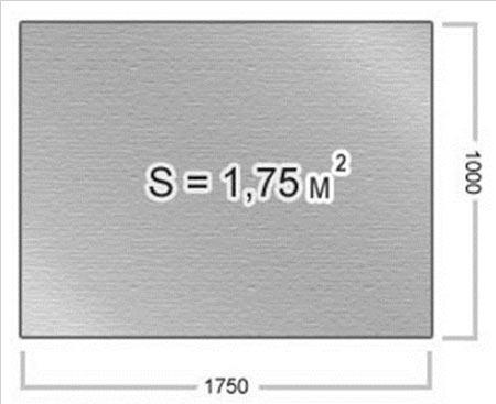 пример размера плоского шифера