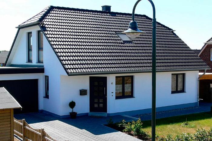 двухскатная крыша с мансардой