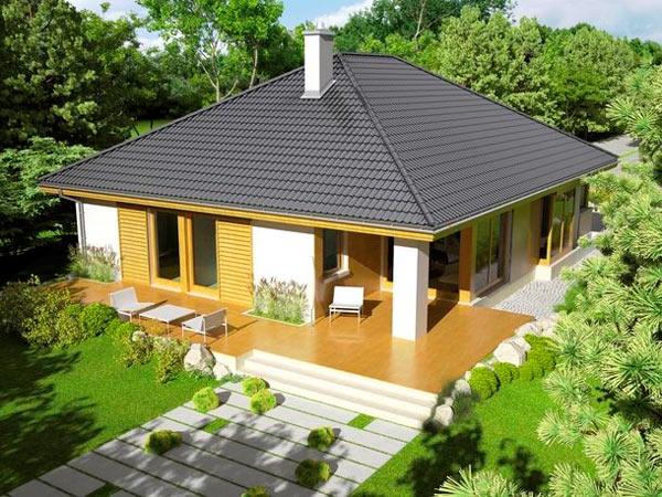 фото дома с четырехскатной крышей