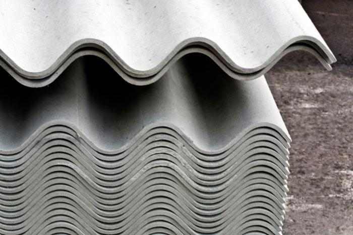 фото стопки волнового шифера