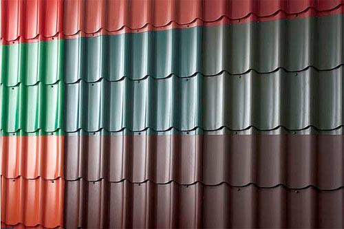 металлочерепица разных цветов