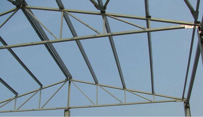 фото металлических ферм из профильной трубы