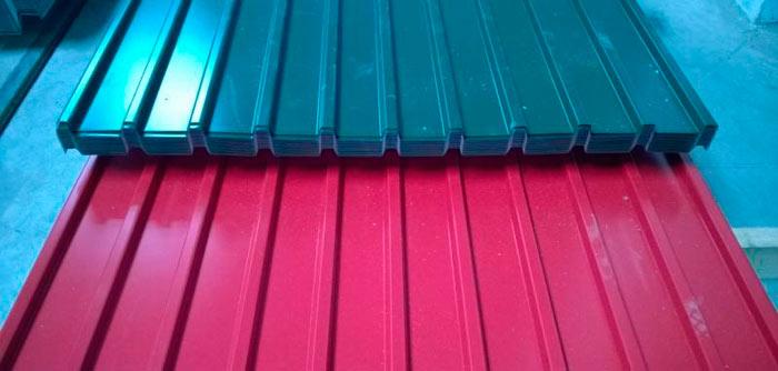 фото разноцветных профлистов