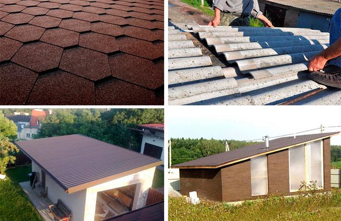 кровельные материалы для односкатной крыши