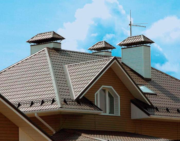 крыша покрытая материалом - металлочерепица