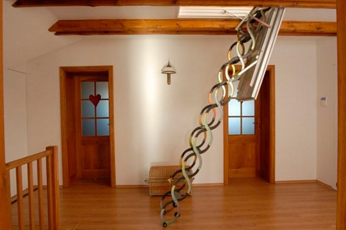 лестница-гармошка на чердак