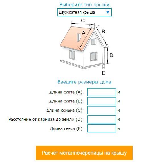 добавлением как рассчитать металлочерепицу на крышу производители