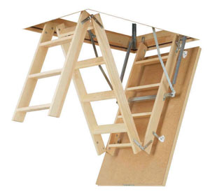раскладная лестница на чердак - миниатюра
