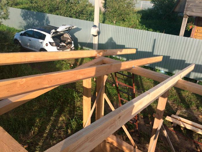 стропила для односкатной крыши