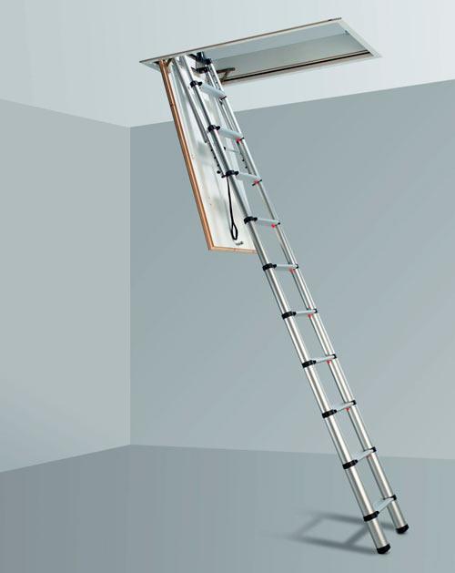 телескопическая лестница на чердак