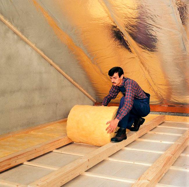 утепление чердачного перекрытия минеральной ватой