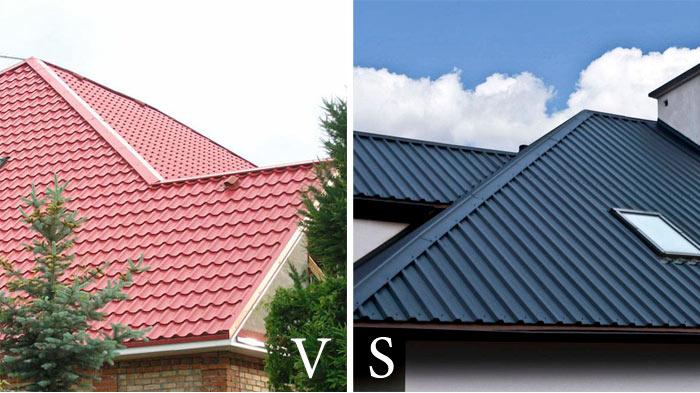 что лучше для крыши профнастил или металлочерепица