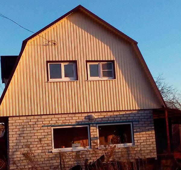 крыша с фронтоном из профлиста