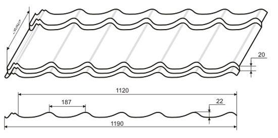 параметры листа металлочерепицы