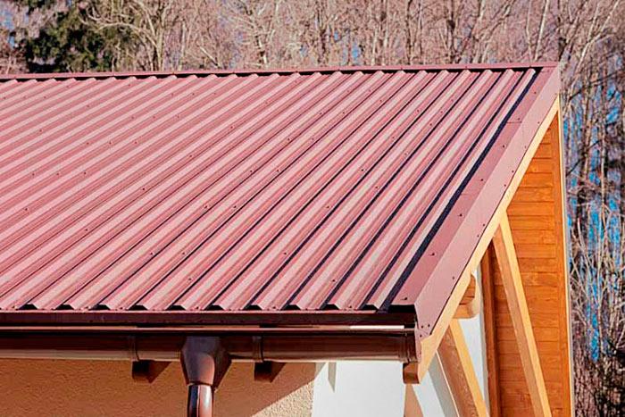 правильно расчитанная крыша из профнастила