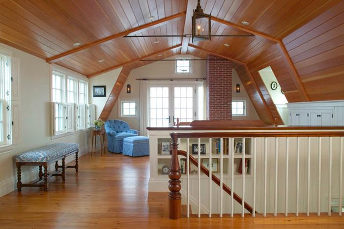 дизайн мансардной ломаной крыши