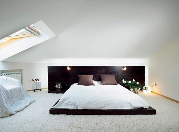 дизайн спальни фото с мансардой