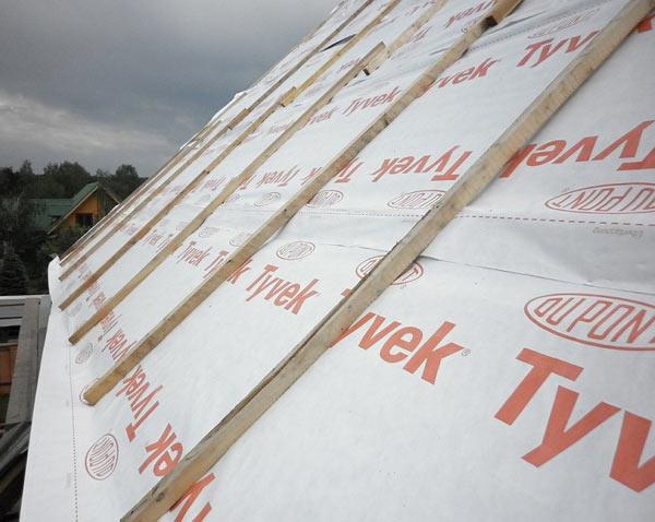 гидроизоляция крыши из профнастила пленкой