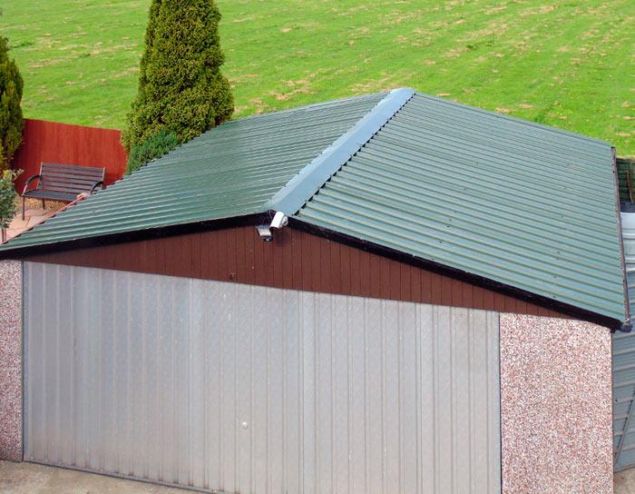 крыша гаража из профлиста своими руками