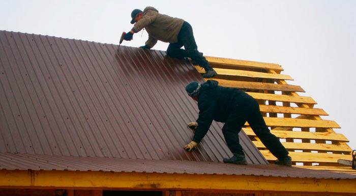 крыша из профнастила без гидроизоляции