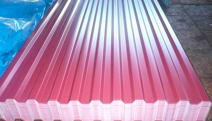 листы профнастила для крыши гаража