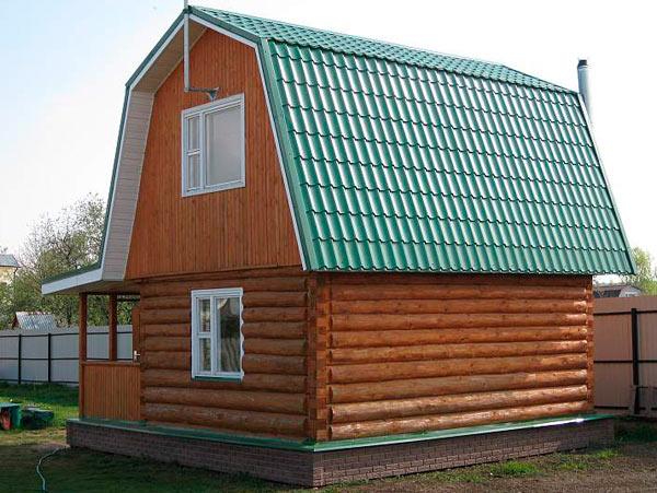 мансардная ломаная крыша из металлочерепицы