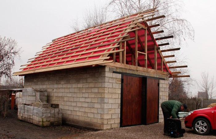 обрешетка для крыши гаража под профнастил