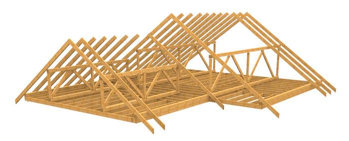 схема устройства стропильной системы крыши