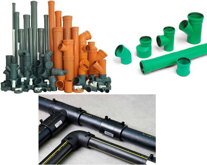 виды канализационных труб по цвету