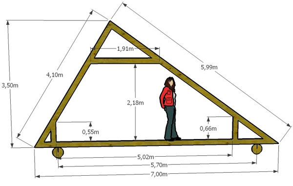Двускатная крыша своими руками чертежи и фото
