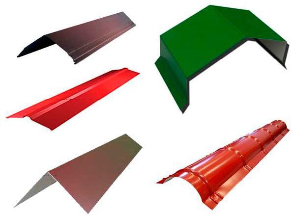 формы конька для крыши из металлочерепицы