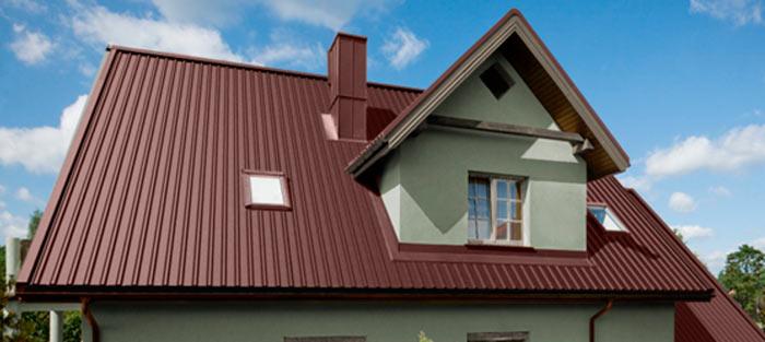 готовая крыша из профнастила