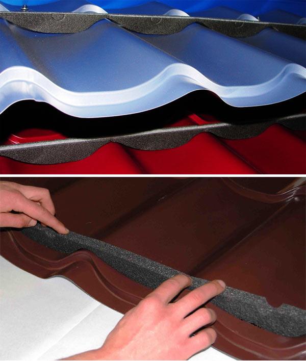 уплотнитель для конька металлочерепицы профильный
