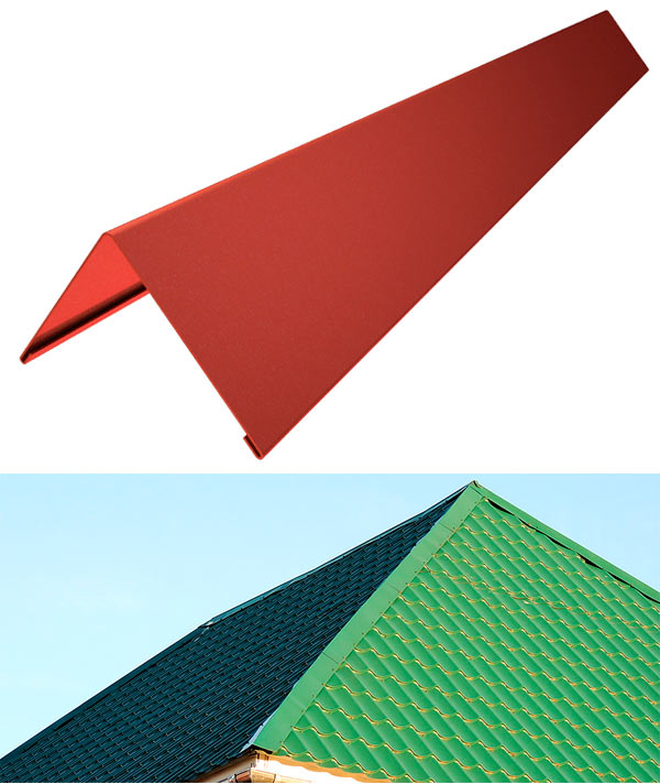 устройство треугольного конька для крыши из металлочерепицы