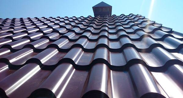 металлочерепицы андалузия на крыше