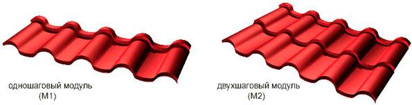 одношаговая и двухшаговая металлочерепица андалузия