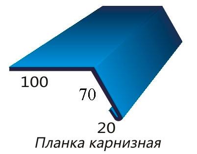 размеры карнизной планки для металлочерепицы