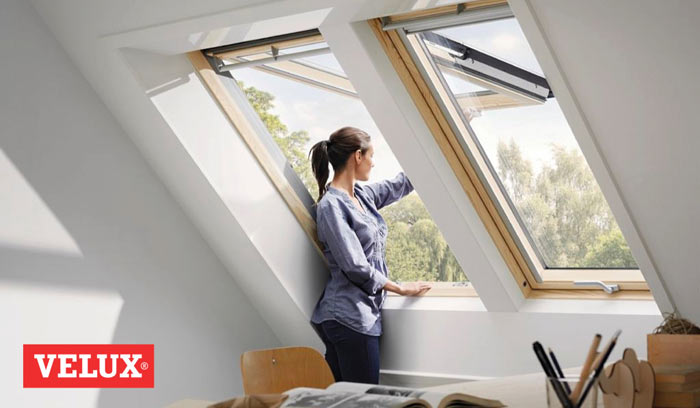 использование мансардного окна velux