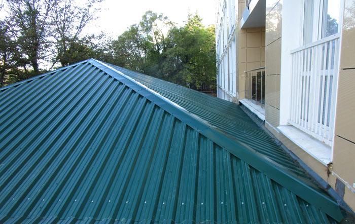 крыша из профнастила нс35