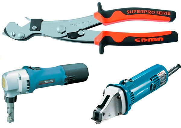 разновидности ножниц для резки металлочерепицы