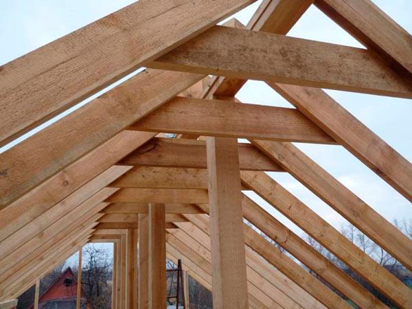 установленные стропила двухскатной крыши своими руками