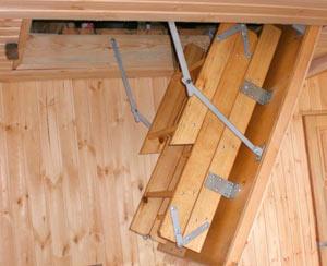 чердачная лестница своими руками - миниатюра