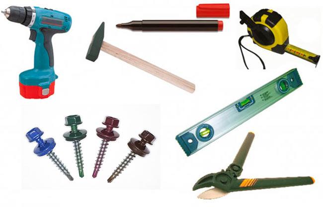 инструменты для укладки профлиста на крышу