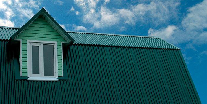 крыша дома из профилированного листа