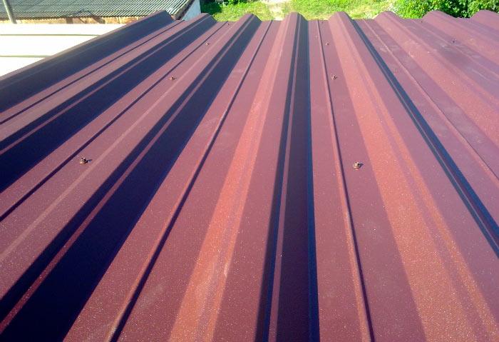 крыша из профнастила н57
